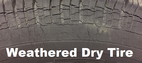 RV weathered tire